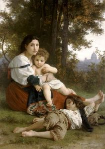 William Adolphe Bouguereau - Мать и дети