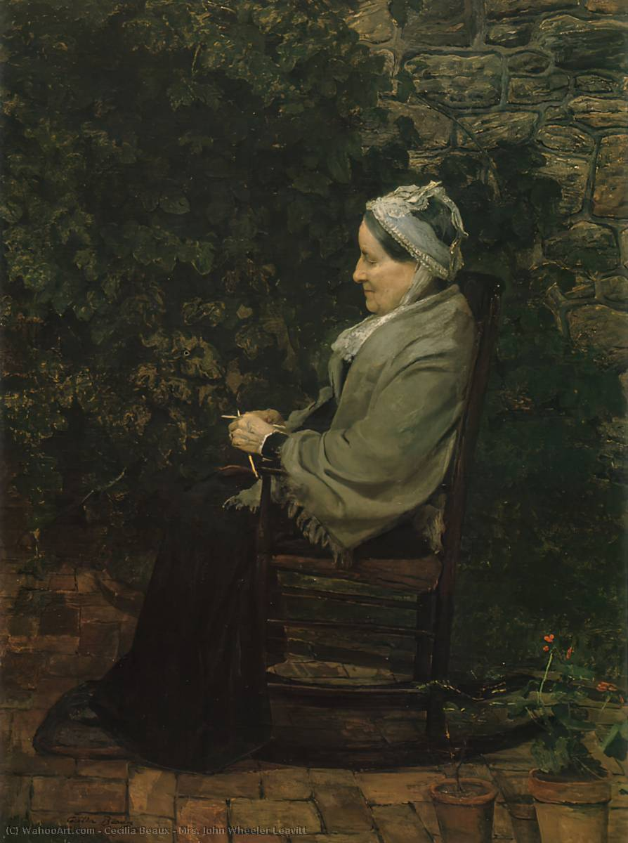 Г-жа Джон Уилер Ливитт, 1885 по Cecilia Beaux (1855-1942, United States)
