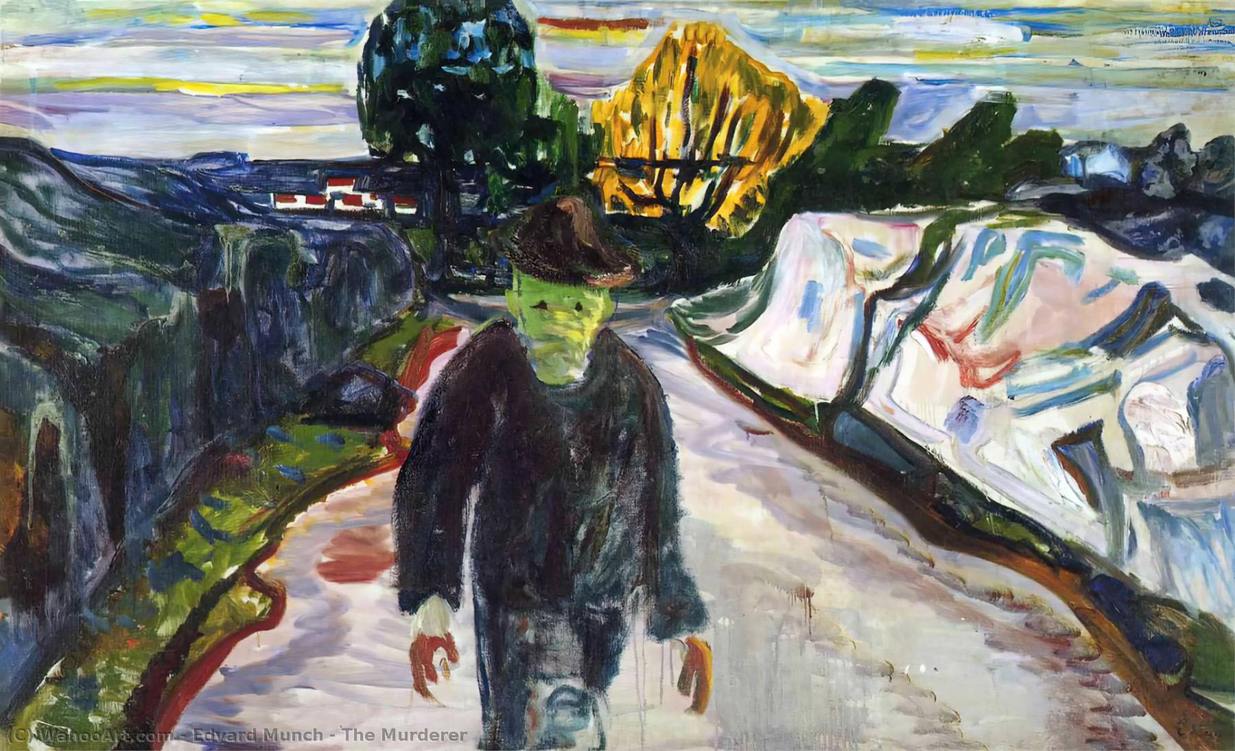 Убийца, холст, масло по Edvard Munch (1863-1944, United Kingdoms Of Sweden And Norway)