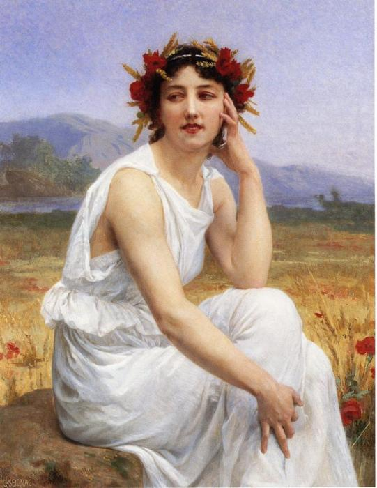 Муза, холст, масло по Guillaume Seignac (1870-1924, France)