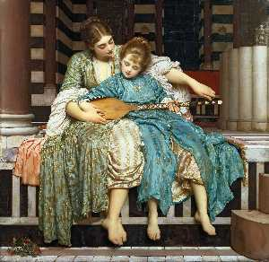 Lord Frederic Leighton - Урок музыки