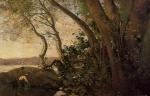 Jean Baptiste Camille Corot - Неми, краю озера