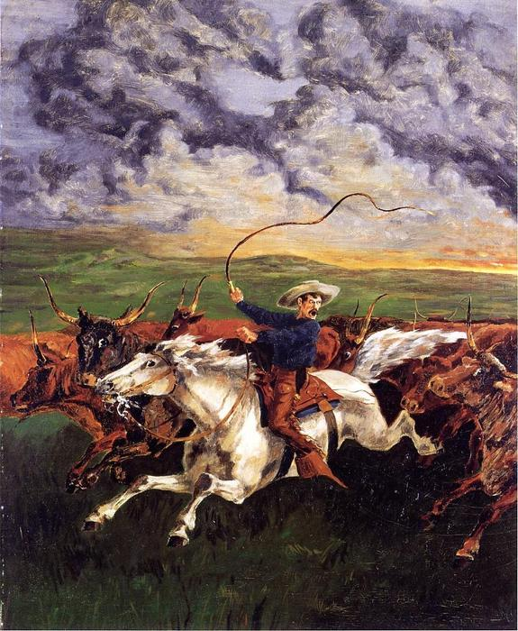 Prarie Огонь, 1885 по Frederic Remington (1861-1909, United States)