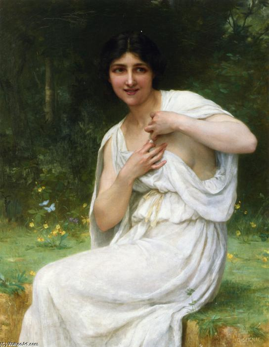 Подготовка за Ванна, холст, масло по Guillaume Seignac (1870-1924, France)