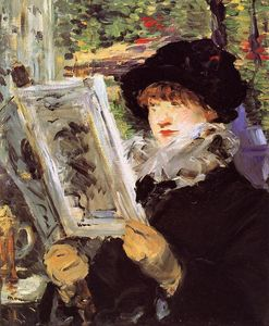 Edouard Manet - Reading ( известно также, as Reading L-Illustre )