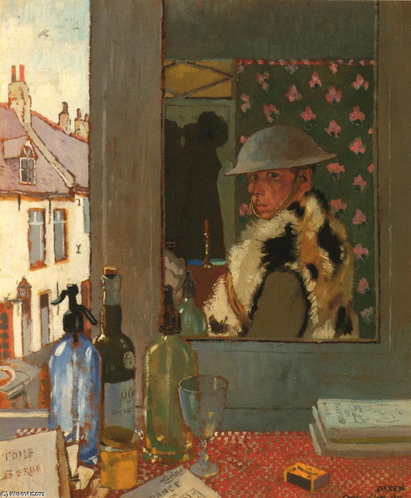 Готов начать, 1917 по William Newenham Montague Orpen (1878-1931, Ireland)
