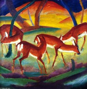 Franz Marc - Red Deer Я