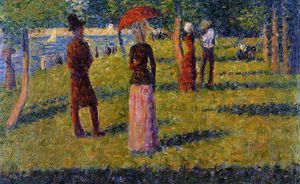 Georges Pierre Seurat - Тем Rope-Colored Юбка