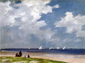 Edward Henry Potthast - Яхты прочь Far Rockaway