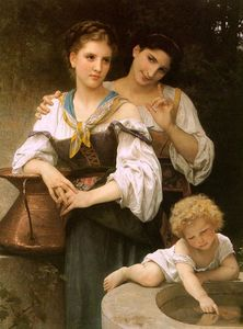 William Adolphe Bouguereau - Секрет