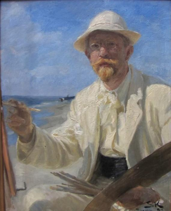 Автопортрет, 1897 по Peder Severin Kroyer (1851-1909, Norway)