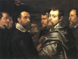 Peter Paul Rubens - Self-Portrait в Circle of Друзья из Mantua