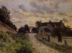 Alfred Sisley - Улочка в Louveciennes