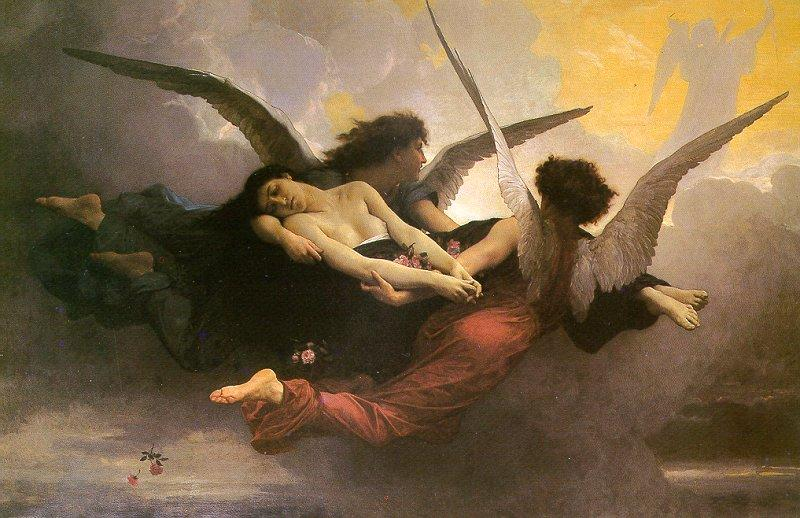 A null null на небо, холст, масло по William Adolphe Bouguereau (1825-1905, France)