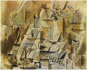 Georges Braque - Натюрморт с гроздь винограда