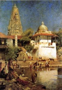 Edwin Lord Weeks - храмы и танк walkeshwar в бомбее