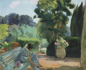 Henri Lebasque - Терраса в Праде
