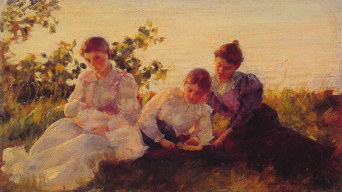 Три женщины, 1894 по Charles Courtney Curran (1861-1942, United States)