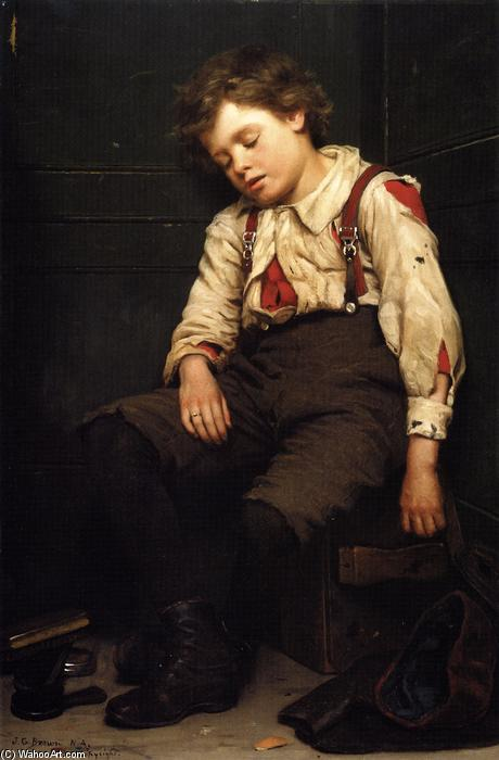 Tuckered OUt, 1888 по John George Brown (1831-1913, United Kingdom)