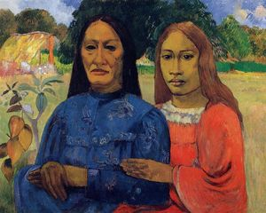 Paul Gauguin - две женщины Также  известен  в виде  Мать  а также  дочерью