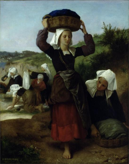 Прачки Фуэнан, 1869 по William Adolphe Bouguereau (1825-1905, France) | Репродукции Музея | WahooArt.com