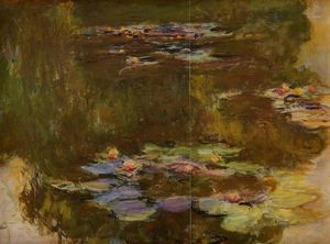 Claude Monet - Water Lily Pond правый боковой