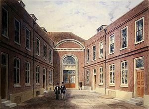 Thomas Hosmer Shepherd - Внутренний двор Girdlers Hall Basinghall улице