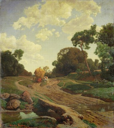 Пейзаж с Haywagon по Valentin Ruths (1825-1905, Germany) | Репродукции Музея | WahooArt.com