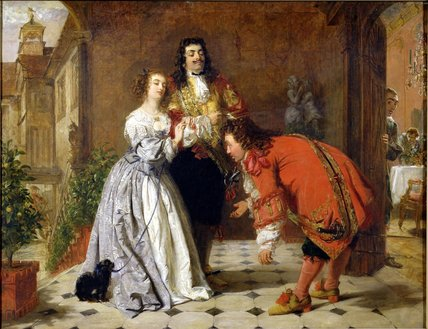 сцена из Moliere's 'the Would-be Gentleman' , по William Powell Frith (1819-1909, United Kingdom)