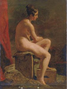 William Etty - Académie Де femme ню