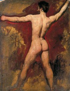 William Etty - Мужчина ню -