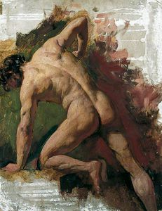 William Etty - Мужской Обнаженная Распиловка