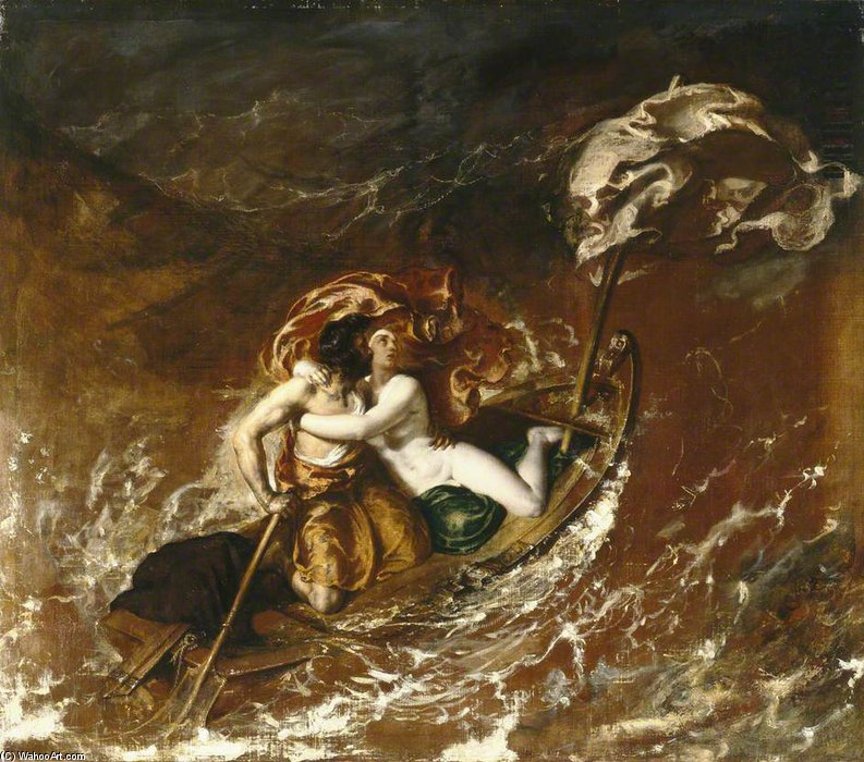 буря по William Etty (1787-1849, United Kingdom) | Картина Копия | WahooArt.com