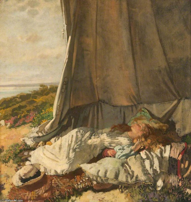 пополудни СОН по William Newenham Montague Orpen (1878-1931, Ireland)