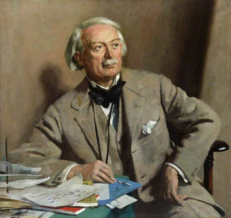 Дэвид Ллойд Джордж , 1st Граф Lloyd-george по William Newenham Montague Orpen (1878-1931, Ireland)
