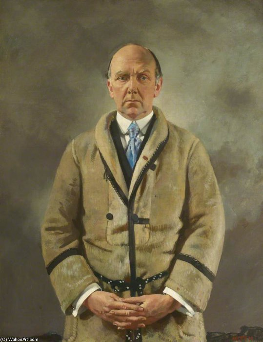 Леонард А. Скотт Стоукс по William Newenham Montague Orpen (1878-1931, Ireland)