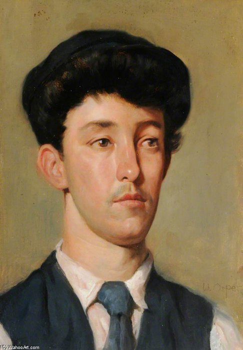 Портрет А Молодежь  по William Newenham Montague Orpen (1878-1931, Ireland)