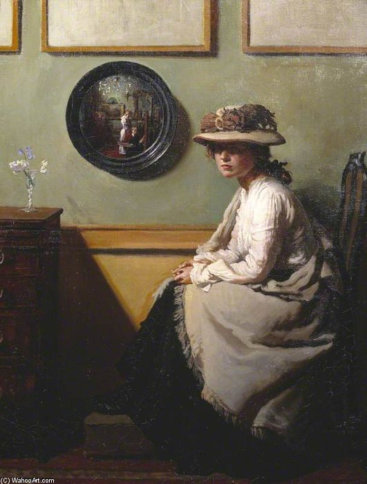 Зеркало по William Newenham Montague Orpen (1878-1931, Ireland)