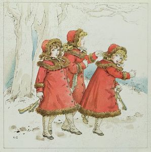 Kate Greenaway - -winter- с апреля Baby-s книга Tunes
