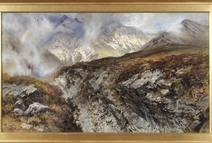 Sgurr Нан Guillean, Остров Скай по Keeley Halswelle (1832-1891, United Kingdom) | WahooArt.com