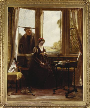 lady jane Серый и роджер ascham по John Callcott Horsley (1817-1903, United Kingdom) | WahooArt.com