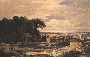 John Varley I (The Older) - Frognal , Хэмпстед , с . 1825
