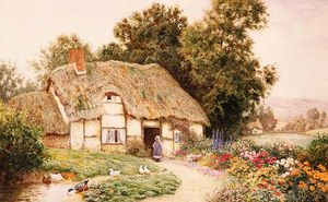 Arthur Claude Strachan - Cottage на а Утка Пруд