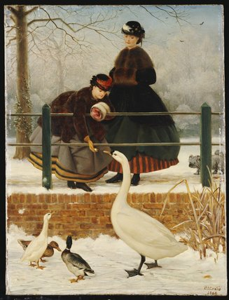 заморожены вне  по George Dunlop Leslie (1835-1921, United Kingdom)