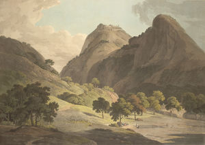 Thomas And William Daniell - зубец део и warrangur , форты hill в Barramah'l