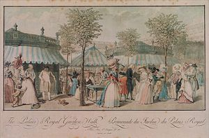 Philibert Louis Debucourt - palais royal garden ходить