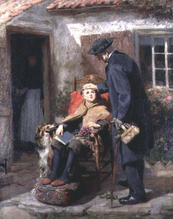 Реабилитационный Ни  тем  батюшка  по Ralph Hedley (1848-1913, United Kingdom)