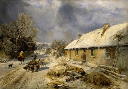 Burns's Коттедж , Alloway по Samuel Bough (1822-1878, United Kingdom)