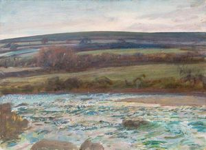 Alfred James Munnings - Brightworthy Форд, Withypool, Эксмур - (10)