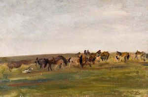 Alfred James Munnings - Эксмур пони  -